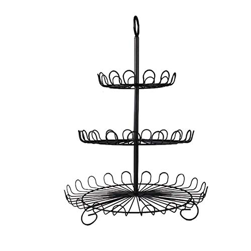Dniu Cupcake rack multiple levels cake dessert stand metal cupcake display holder home serving plate decorative and elegant for afternoon tea, party, gathering.