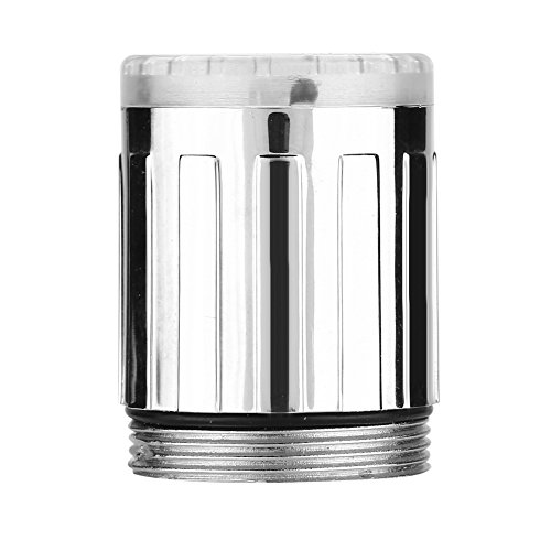 Detección de Temperatura de Cabeza de Grifo Cambio de 3 Colores LED Grifo Cocina Lavabo de Baño