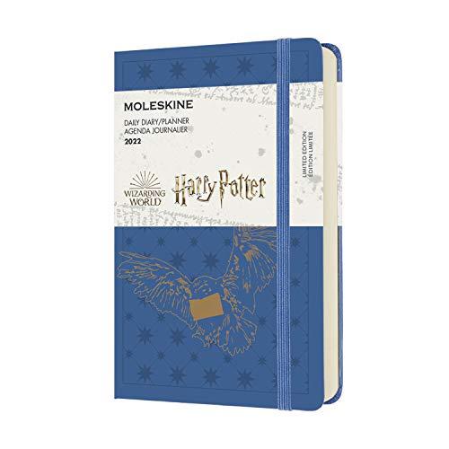 Moleskine Harry Potter Civetta - Agenda Giornaliera 12 Mesi 2022, con Copertina Rigida, Formato Pocket 9 x 14 cm, Blu (Blu Anversa)