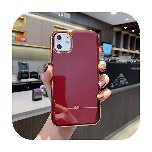 Carcasa para iPhone 11 Pro Max XR XS Max 7 8 6 6S Plus X color caramelo oro rosa suave TPU cubierta posterior capa