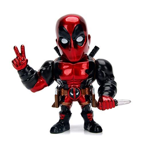 Jada Toys Marvel Deadpool, Personaggio da Collezione, 10 cm, Colore: Rosso, 253221006