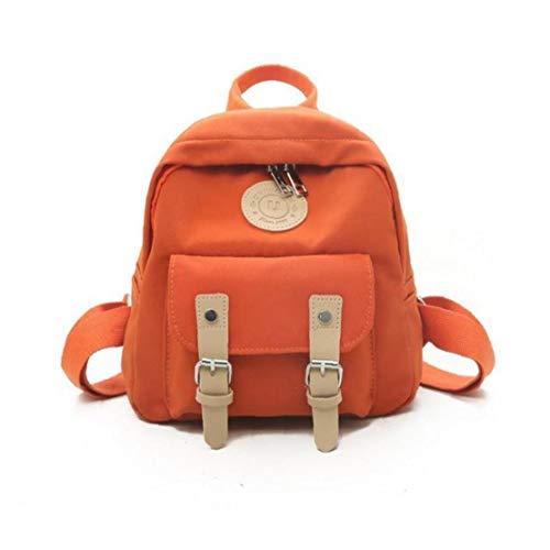 Orange de Haute qualité Zipper Femmes épaules de l'épaule Mode féminine Sac à Dos Primaire Cartable Double Ceinture Mini Sac à bandoulière