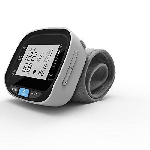 Sfigmomanometro Polso Digitale Polsino Regolabile, Ampio Display LCD Monitor Automatico della Pressione Sanguigna, 2 Utenti 120 Spazi Memoria Funzione