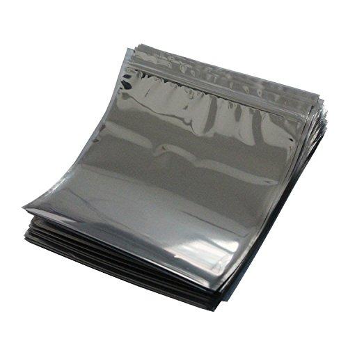 LJY 50 Stück Antistatische Resealable Large Size Taschen für Motherboard HDD und elektronisches Gerät, 21cm x 24cm