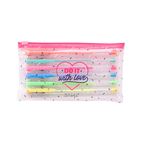 Set de 6 bolis de colores - Do it with love