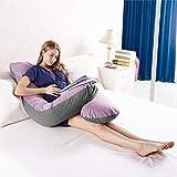 Australian Made Pregnancy/Maternity/Nursing Pillow Body Feeding Support (Lilac x Grey Pillowcase Included)