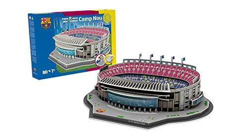 FCBARCELONA Nanostad 3D-Puzzle Camp NOU Standard FC Barcelona (34452), Mehrfarbig