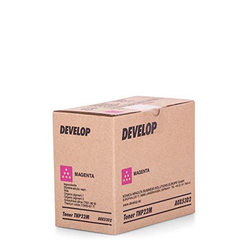 Original Develop A0X53D2 / TNP-22 M, für Ineo + 35 Premium Drucker-Kartusche, Magenta, 6000 Seiten