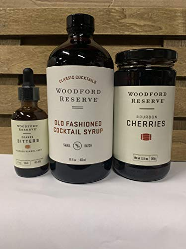 Woodford Old Fashioned Bundle of Orange Bitters, Cherries and Old Fashioned Syrup