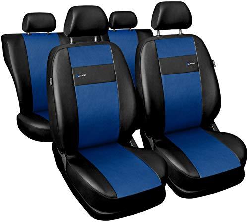 GSC Sitzbezüge Auto Komplett 5-Sitze Universal Autositzbezüge Schonbezüge Kunst Leder X-LINE, kompatibel mit Nissan Qashqai