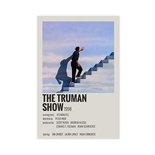 Affiche du film The Truman Show - Affiche vintage des années 90 - Pour chambre - Décoration murale - 30 x 45 cm - Sans cadre - Style 1