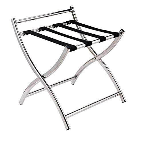 Find Discount LXF Folding Luggage Rack Stainless Steel Hotel Room Luggage Rack Rack Hotel Room Foldi...