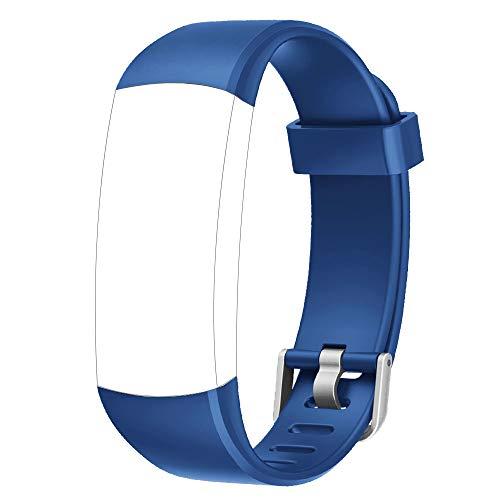 YAMAY Cinturino di Ricambio per Orologio Fitness Smartwatch SW336 TE336 ID128 Color HM ( Blu)