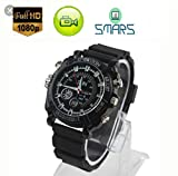 Smars® Full HD 1080P Motion Detection Night Vision and Waterproof Wrist Watch Spy