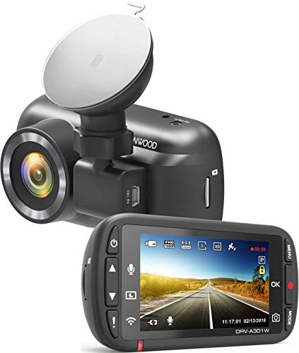 Kenwood DRV Full HD Dash Cam with 3 Axis G-Sensor, GPS and Wireless Link