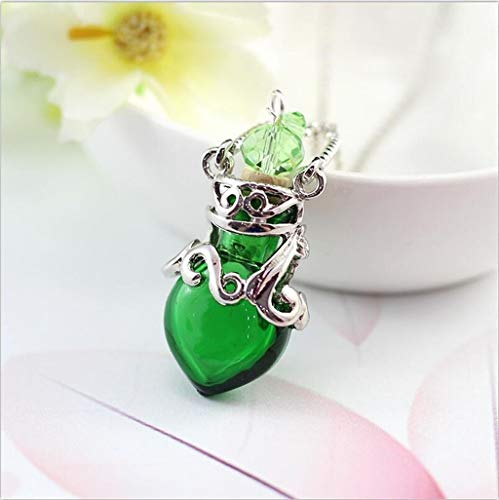 1 stück Murano Glas Parfüm Halskette kleines Herz ätherische Ölflasche Anhänger Parfümflasche Parfüms und Düfte für Frauen (Color : 2)