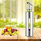 Bottiglia di olio Dispenser di olio durevole in acciaio inossidabile Bottiglia di olio curvo Tappo di salsa Dispenser di salsa Cottura alla griglia(250ml)