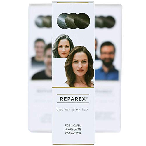 REPAREX For Women - No More Gray In The Mirror. Odorless clear liquid - true gray hair solution - not a dye.