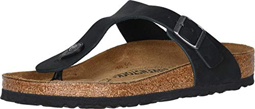 Birkenstock Gizeh Oiled Leather Black Oiled Leather 36 (US Women's 5-5.5) Regular