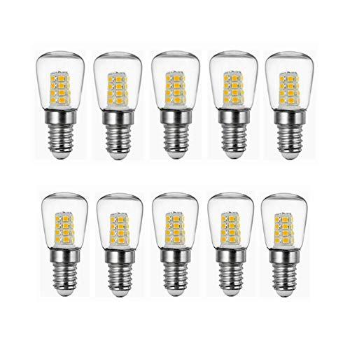 GHC LED Lampen, 2W E14 AC220V LED Birne, Kühlraum führte Birnen helle Innenlampe für Kühlraum-Gefriermaschine-Kristallleuchter-Beleuchtung beleuchtet Birnen 10 Satz (Farbe : Warmweiß)