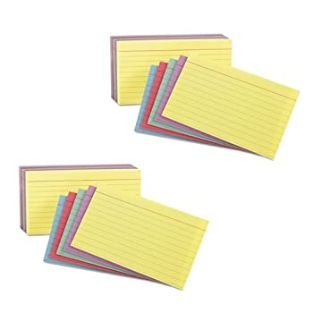 Oxford 3x5 Rainbow Index cards  2 Pack