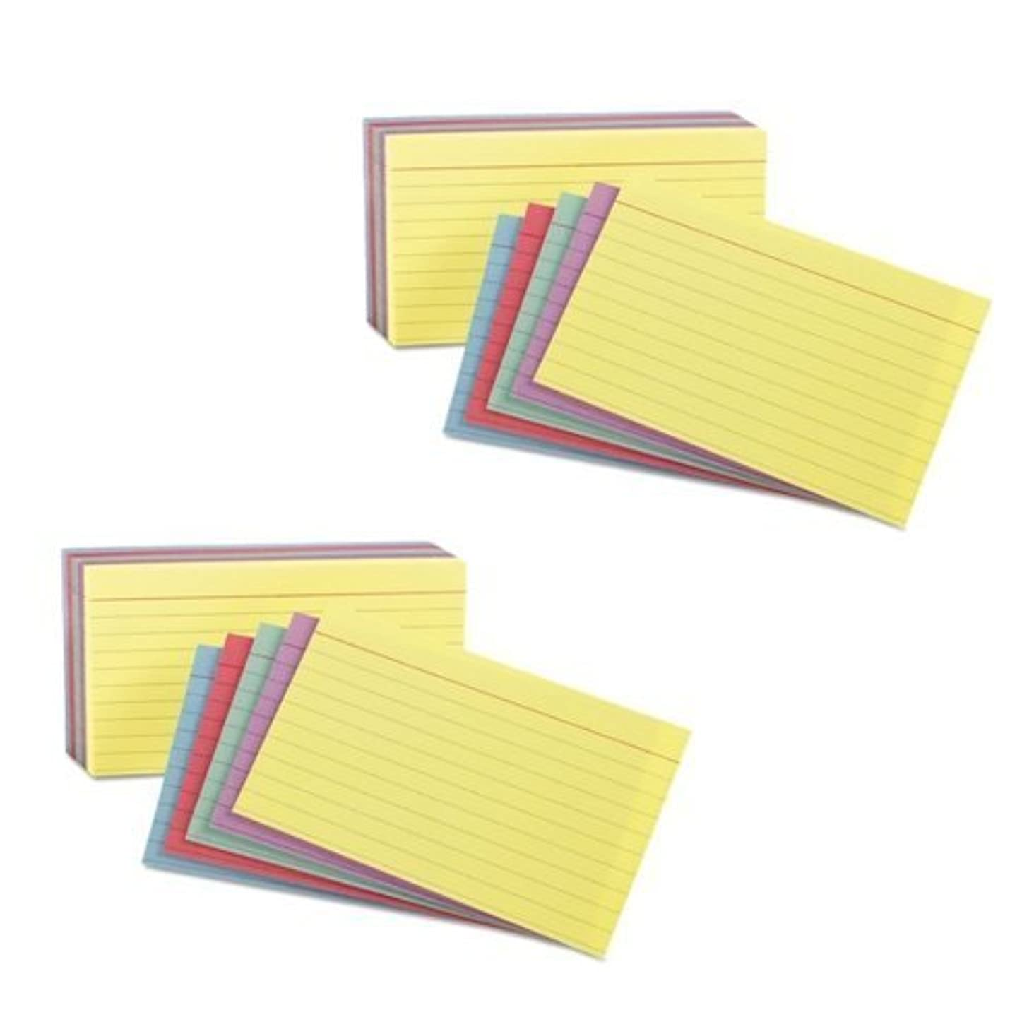 Oxford 3x5 Rainbow Index cards (2 Pack)