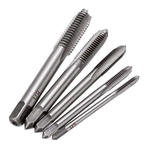 Bits de cortador de fresado 5 piezas de herramienta de acero de alta velocidad Herramientas de hilo de mano Taperos M3 M4 M5 M6 M8 Pinchazo métrico TRIM BITS