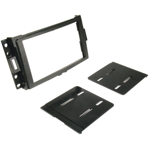 Scosche GM1595B Compatible with Select 2004-12 GM ISO Double DIN Dash Kit Black