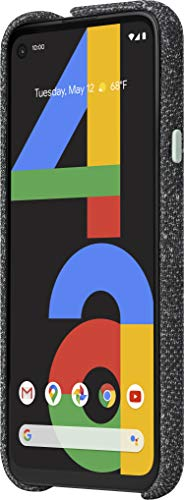 Google Pixel 4a - New Unlocked Android Smartphone - 128 GB of Storage - Up to 24 Hour Battery - Just Black with Google Pixel 4a Case, Basically Black