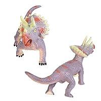 声の恐竜のおもちゃ、耐久性のある多機能無臭の子供恐竜のおもちゃ、赤ちゃんのために再利用可能(Triceratops)