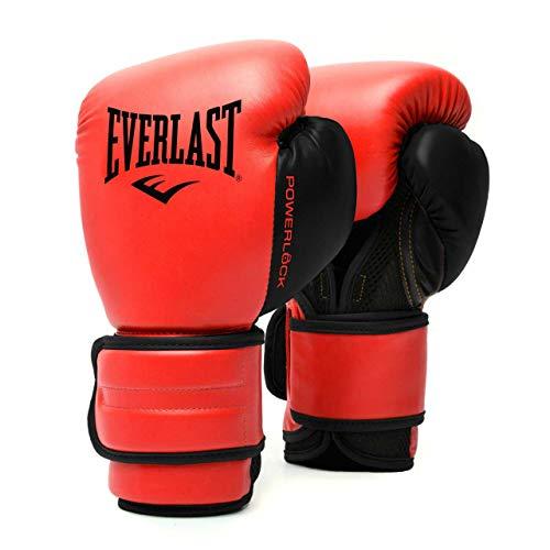 EVERLAST Powerlock 2R - Guanti da allenamento, colore: Rosso