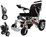 Porto Mobility Ranger D09 Lightweight Foldable Weatherproof Exclusive Electric Wheelchair, Portable, Brushless Powerful Motors, Dual Battery, All Terrain (Silver, Standard)