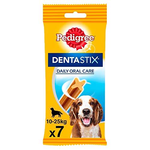 Pedigree Dentastix Snack Dental para la Higiene Oral de Perros Medianos (10 paquetes de 7ud)