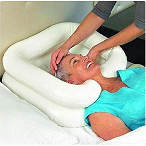 CYYYY Aufblasbares Haarwaschbecken, Wäsche-Haar Im Bett Mit Luftpumpe for Bettlägerige und Ältere
