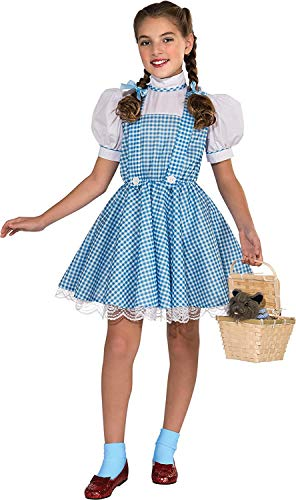"""Rubie's Kid's Dorothy The Wizard Of Oz Kids Deluxe Costume, Medium, Age 5 - 7 years, HEIGHT 4' 2"""" - 4' 6"""""""