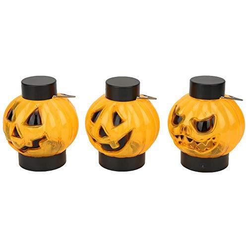 logozoee Luz de Calabaza de Halloween, Luces de decoración de Halloween, Accesorios de decoración de Fiesta, luz LED de Calabaza, para el hogar