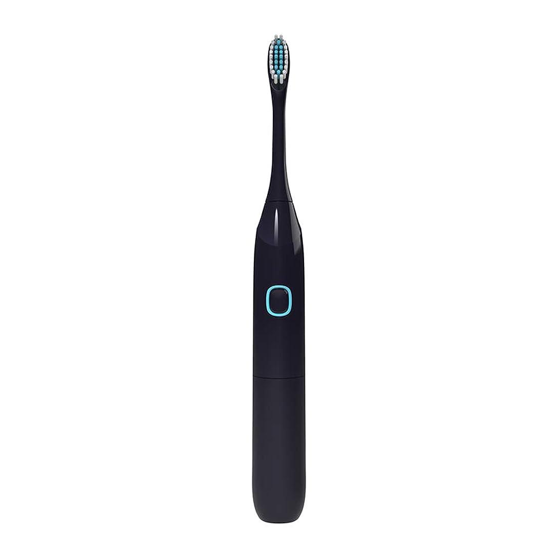受益者神経冷える2つのブラシヘッドによって作動する電動歯ブラシ電池口頭衛生の健康プロダクト電動歯ブラシ,黒