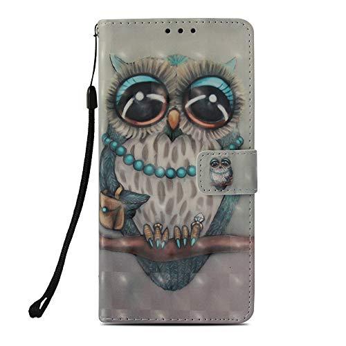 Mking Tech 3D-Funda de Cuero para el teléfono móvil Samsung Galaxy Note 9, Ranura para Tarjeta de crédito/Flip/Cartera/Cierre magnético automático/Estuche de teléfono Anti-caída