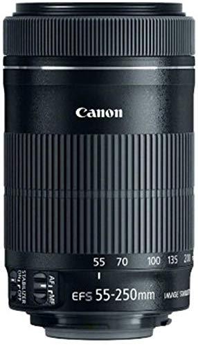 Canon EF-S- Objetivo STM 55-250 mm f/4-5.6 55-250 mm, color negro