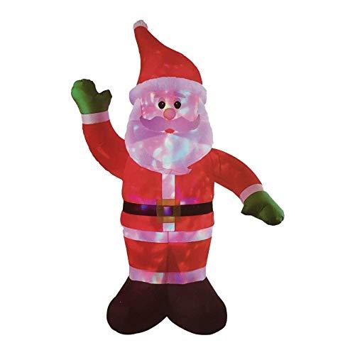 Papa Noel Santa 2,5 Metros Navidad Luminoso para Exterior Auto-Hinchable