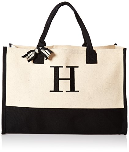 Buy Mud Pie Initial Canvas Tote Bags (H)