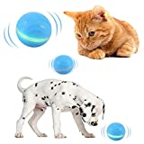 Cats and Dogs Wicked Balls, Automatic Rolling/Shut off, USB Rechargeable, Smart Interactive Pet Toys Ball for Kittens Kitty Doggy Puppy with RGB LED Lights Waterproof (Upgraded 2.0 - BLUE)