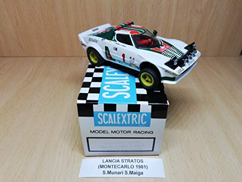 Scalextric Lancia Stratos Montecarlo 1981 S.Munari S.Maiga Coleccion Altaya coches miticos