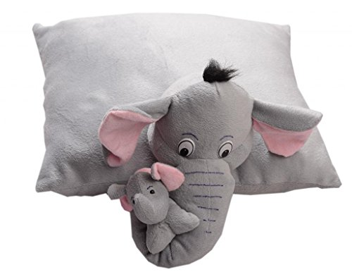 Pearl World Baby's Folding Elephant Pillow Imported Premium Quality Toddler Babies Soft Neck Support Animal Figure Toys(Multicolour)