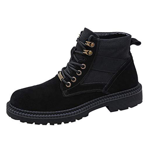 Heren High Rise Outdoor Laarzen Anti-lip Trekking Schoenen Veterschoenen Trend Engeland Stijl Suede High-Slip Laarzen