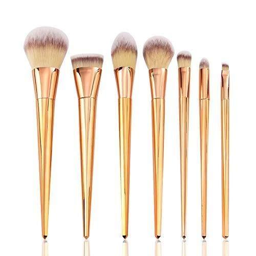 Outils de Beauté Pinceau de maquillage for débutants Foundation Brushes 7Pcs Kit de maquillage pour les Débutants et les Professionnels