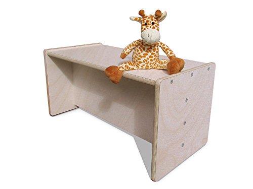 Die Schreiner - Christoph Siegel Eli-Kids 2mount Table réversible en bois naturel et blanc pour enfant