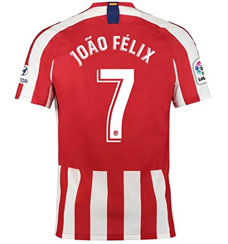 Aizer Do Atletico Madrid New 2019/2020 Season #7 Felix Home Mens Soccer Jersey Color Red/White Size XL