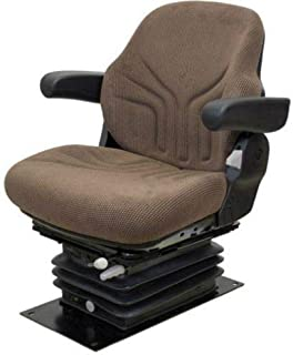 Seat Assembly - Air Suspension w/Armrests, Grammer Style, Fabric, Brown, JD 30-55