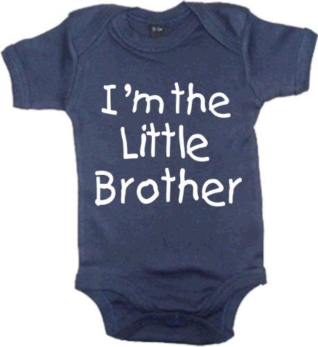 Edward Sinclair garçons Body bébé 'Je suis Le Petit Frère' - Bleu - 6-12 Mois